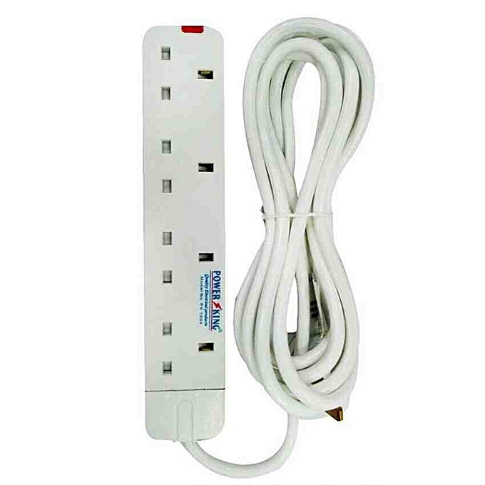 Buy Generic 4 way extension cable Power King 4 way - White @ Best ...