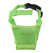 Dog Pet Mouth Bound Device Safety Adjustable Breathable Muzzle Stop Biting