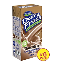 Dairyfresh Flavored Milk-Choclate (6 Pack)