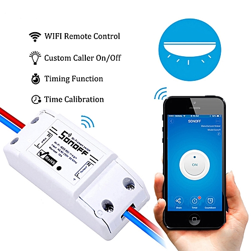 Sonoff 4CH Wifi Switch Smart home 4Channel Remote Control Home Automation  Module on/off Wireless Timer DIY Switch Din Rail Mount