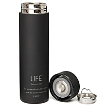 500ML Stainless Steel Tea Water Coffee Flask Vacuum Bottle Thermoses Travel Cup Black