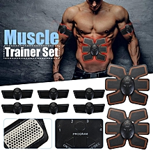 Muscle Trainer Abdominal Toning Toner ABS Smart EMS Fitness Belt Stickers UK
