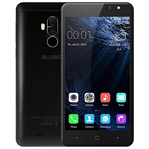Bluboo D1 3G Smartphone 5.0 inch Android 7.0 MTK6580A Quad Core 1.3GHz 2GB RAM 16GB ROM Fingerprint Scanner Dual Rear Cameras - BLACK