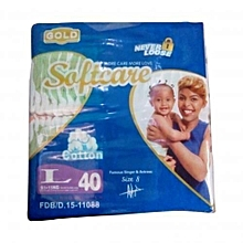 Diapers, Gold Softcare, 9-15 Kgs, Count 40)