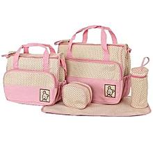 5 In 1 Multifunction Baby Shoulder Diaper Bags Mama Organizer Bag