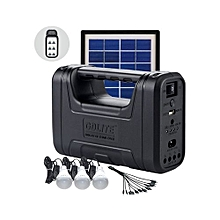 Solar Lighting System With Solar Panel And Battery – Black