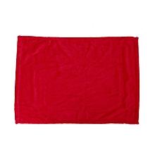 Solid Color Blanket Coral Fleece Comfortable Sleeping Home Bed Sofa Blanket super red