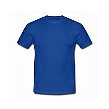 Round Neck Plain T-Shirt -Royal Blue