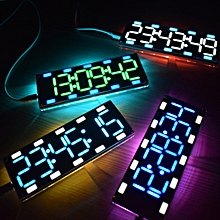 Geekcreit® DIY 6 Digit LED Large Screen Two-Color Digital Tube Desktop Clock Kit Touch Control ice