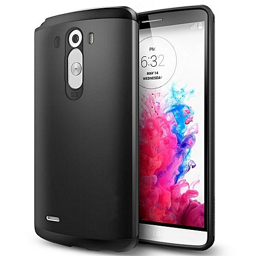 UNIVERSAL TPU Silicone Slim Tough Armor Shell Hybrid Bag Hard Shockproof BackCover Defender Case For LG G3 Optimus D855 D850 D830 F400k (Color:Black)