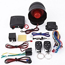 Universal Car Alarm Security Protection System Keyless Entry with 2 Remote Controls Siren
