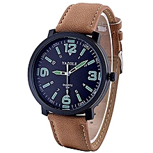 6d388aca299 Fashion Leather Luxury Mens Military Quartz Army Wrist Watch