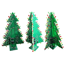 DIY Christmas Tree LED Flash Kit Electronic Learning Kit 3 Types Optional 4 vertical plates