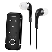 Clip-on Bluetooth V4.1 Headset W/ Earphone Set - Black
