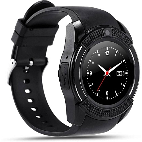 R006 Touch Screen Smart Watch Phone with SIM Slot - Black