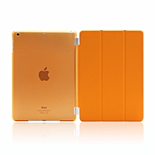 Protective Case Apple iPad 2/3/4 - for iPad 2 / New iPad 3 (3rd Generation) / iPad 4, Protective Cover Cover Ultra Lightweight Smart-Shell Stand Cover With Translucent (With auto Wake / Sleep)-(Orange) HSL-G