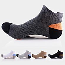 Men Sports Basketball Colors Patchwork Short Tube Socks