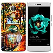 Infinix Zero 4(X555) (3PCS X Phone Case) Infinix Zero4(X555) Silicone Case, TPU Anti-knock Phone Back Cover For Infinix Zero 4(X555) - Multi-color(Stone Bridge Oil Painting+Watercolor Dream Catcher+Flowers).