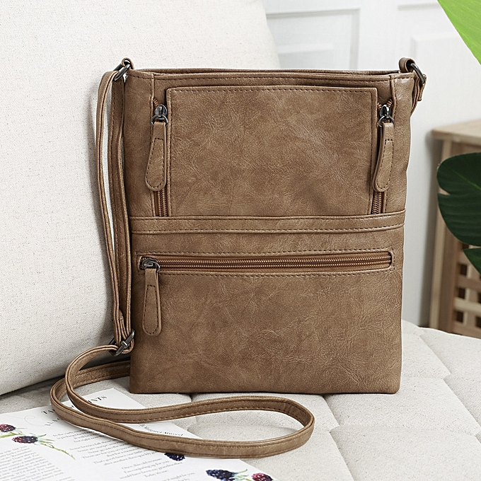 0163c76822 douajso Womens Leather Purse Satchel Cross Body Zipper Shoulder Bag  Messenger Bag