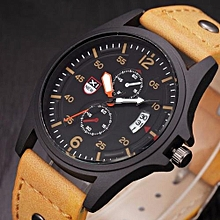 Gorgeous Men's Leather Brand Watches Military Sport Analog Quartz Date Wrist Watch Multi