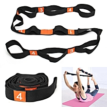 Yoga Stretch Strap Elasticity Yoga Strap with Multiple Grip Loops Hot Yoga Physical Therapy Greater Flexibility