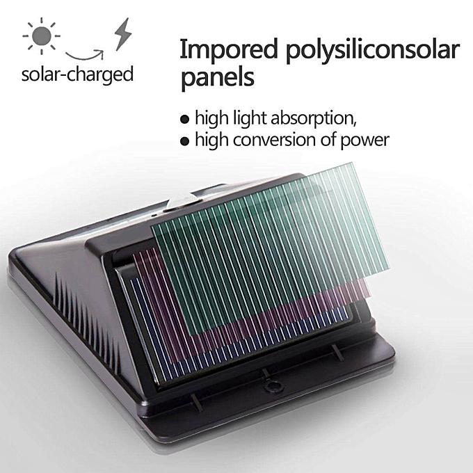 Generic Hontai 4 Pack Solar Power Sensor Wall Light