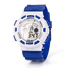 Fashionable Boy Girl Child Kid Sport Waterproof LED Light Analog Digital Wrist Watch-Blue