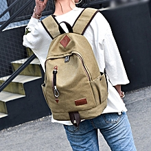 jiuhap store Casual Men Canvas Backpack School Travel Student School Laptop Bag-Khaki