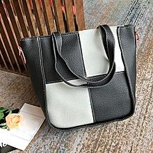 bluerdream-Women's 4Pcs Fashion Patchwork Shoulder Bag+Crossbody Bag+Handbag+Wallet GY-Gray