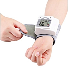 Digital Wrist Blood Pressure Monitor Cuff Check Machine Portable Clinical Automatic - White