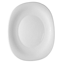 White Square Design Plates - Set of 6 - Black