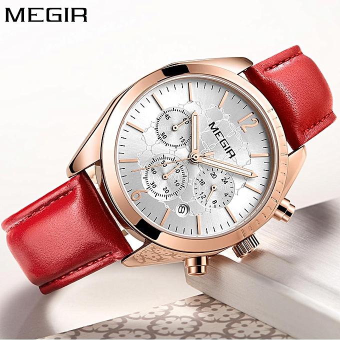 d5859bd0e29 MEGIR Women Watch Top Brand Luxury Chronograph Date Female Clock Classic  Business Quartz Lady Wristwatch relogio