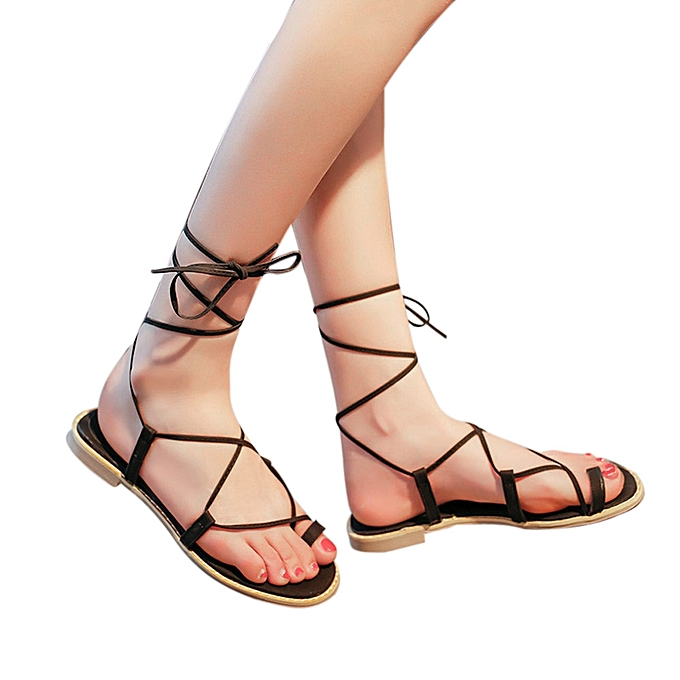 a501b89111a3 Blicool Shop Women Sandals Women Cross Strap Roman Gladiator Sandals  Strappy Thong Flat Flip Flops Shoes