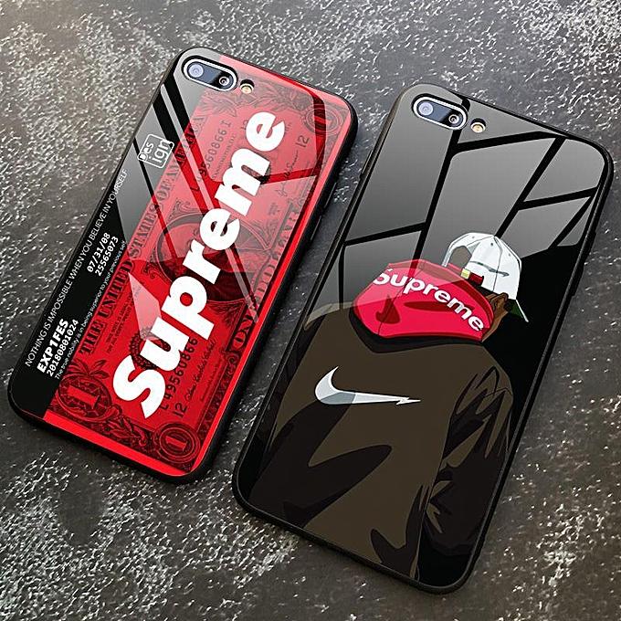 cheap for discount ff8b2 d7528 Instagram Supreme Design Case Tempered Glass Case Full Cover Shockproof  Casing For Oppo A3S F9 F5 F11 Pro A83 A57 for Oppo F1S R9S F3 PLUS A57 F3  F7 ...