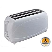 4 Slice Pop-Up Bread Toaster - White