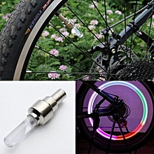 Color LED Motor Bicycle Cycling Tire Valve Wheel Flash Light Lamp