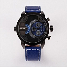 5cm Oversized Dial For Big Wrist Design Brand 3130 Mens Leather Watches Montre Homme Marque Male Relogio Masculino (Blue)