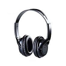 Wireless Stereo Headphones WITH FM RADIO & SD PORT - Black