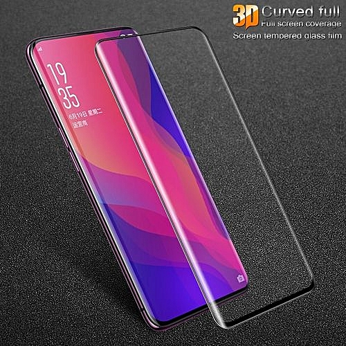 newest a85b5 c3c2d Screen Protector For OPPO Find X 3D Curved Full Cover Tempered Glass For  OPPO Find X Full Screen Tempered Glass