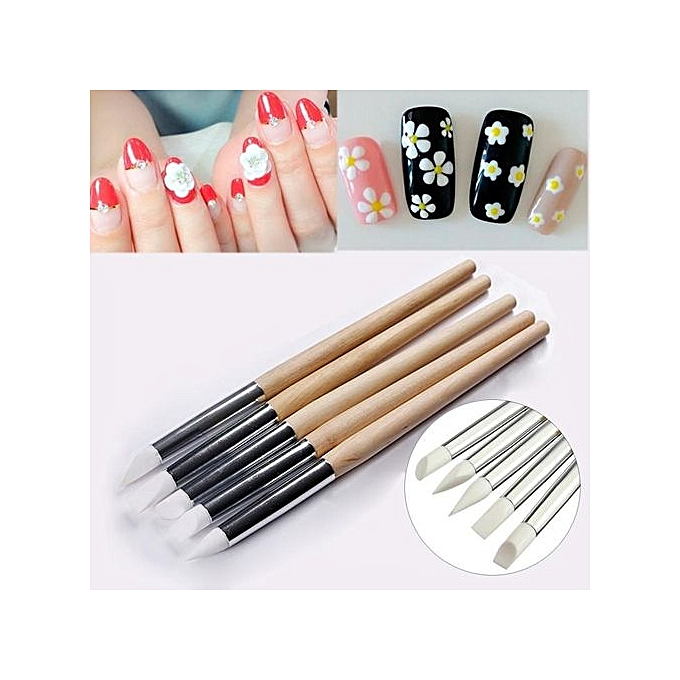 Buy Beauty Manicure Tools Nail Art Pen Nail Soft Silicone Embossed ...