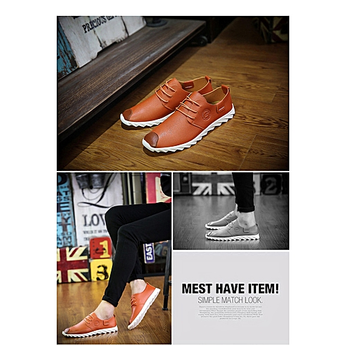 f190f7596a Generic Leisure lace small leather shoes comfortable teenager fashion  student shoes fashionable breathable men s shoes 0