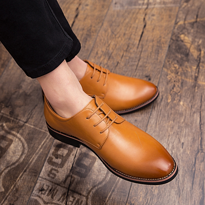 EUR 38-44 Casual Men Shoes Fashion Men Dress Shoes Flats Pointed Toe  Comfortable Office ... 6247d2ea484