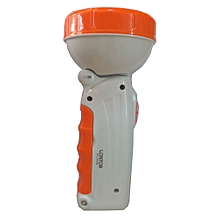 Rechargeable Led Torch - White/orange