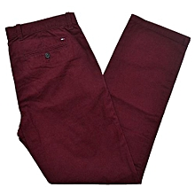 Mens Khaki Chinos Dress Pants Casual Work Trouser Slim Fit Not Relaxed Straight Classic Fit Soft Khaki  Brown Maroon  Red