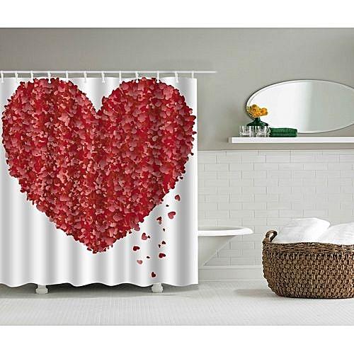 Petal Shower Curtain 3D Polyester Curtains High Waterproof Mildew