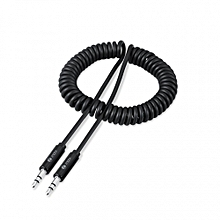 ZF-AUXC - Zoook Coiled Auxiliary Audio Cable - Black