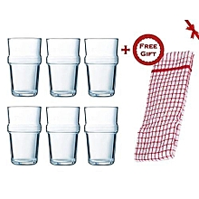 A set of glasses Luminarc Acrobate 6x320 ml (+ Free Gift Hand Towel)