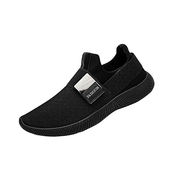 3c2b0d4f66ca6 Fashion Men Sneakers Breathable Casual Shoes Loafers Shoes-black ...