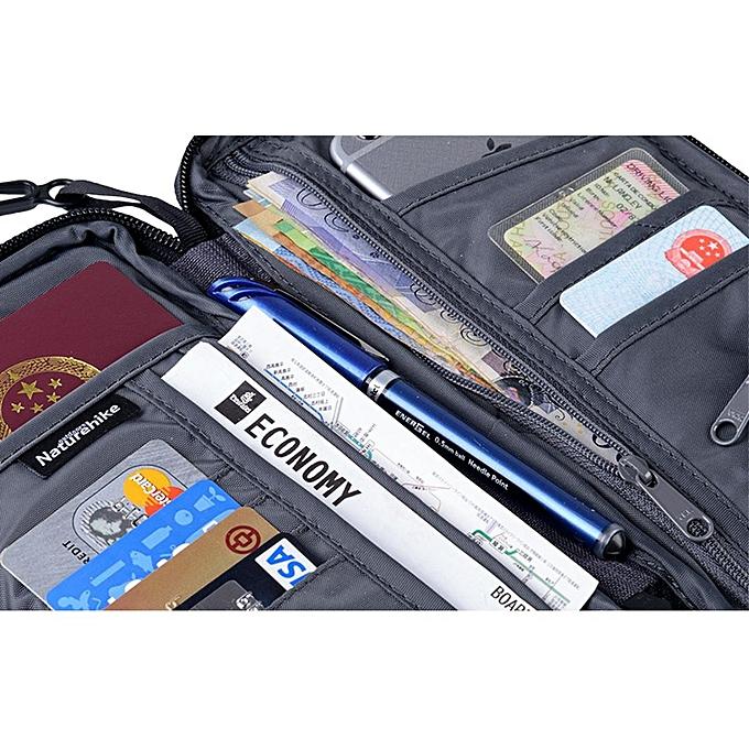 6ce438edcfde Multi-function Passport Holder Case Travel Wallet ID Cover Case Cards  Pocket Bag - Blue - One size