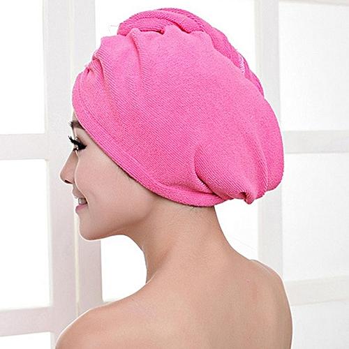 f80ae5d6f8a Generic Home-Superfine Fiber Bath Strong Absorbing Quick Dry Hair Hat  Shower Cap Plum